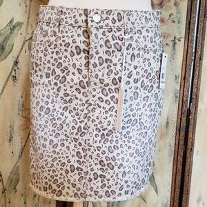 Sanctuary Denim Leopard Canvas Skirt